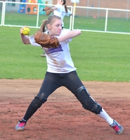 by: John Brewington WELCOME BACK—St. Helens' Sue Sass (above) returns to the Lady Lions' softball team after a year of knee rehabilitation. Her freshman sister Michelle will also add considerably to the team's talent pool.