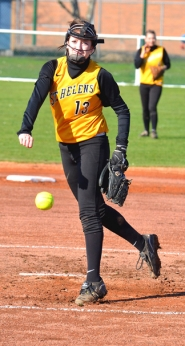 by: John Brewington GREAT START—St. Helens' Mariah Mulcahy had a good first outing from the pitching rubber and also dazzled visiting Cleveland with her hitting on Friday.
