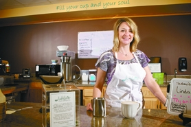 "by: Jaime Valdez Self-described ""pastorista"" Staci Lieuallen is serving up more than just coffee at her new coffee shop, Jubilatte, at Tigard United Methodist Church."