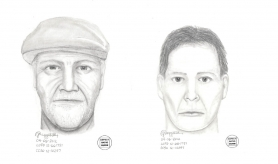 by: submitted drawings Drawings by a police artist portray the two suspects in Friday's home invasion in the Bryant neighborhood.