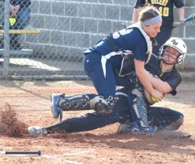 by: John Brewington NOT HOME—St. Helens' Payton Albertson couldn't get past Wilsonville's Megan Bates. The Lady Lions would score three runs in the third and that was enough for their second NWOC win in three outings.