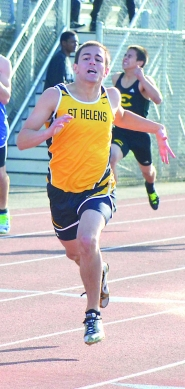 by: John Brewington 400 WINNER–St. Helens' Will Lawrence won the 400 meter run at the Wilsonville Rotary Invitational on Saturday.