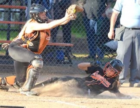 by: John Brewington ONLY RUN—Scappoose's Amara Templin slides into home for the Tribe's only run in their 9-1 loss to Yamhill-Carlton on Monday night.