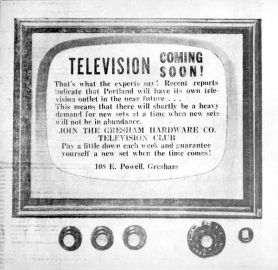 by: Outlook archive photo This advertisement appeared in the April 24, 1952, edition of The Gresham Outlook.
