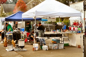 by: David F. Ashton, Ten teams converged on Woodstock Wine & Deli for a sanctioned barbecue competition on April 15th.