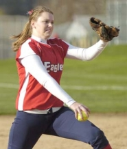 by: David Ball, Centennial pitcher Katie Walker tossed a shutout over Central Catholic on Friday.