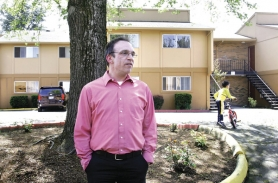 by: JIM CLARK, When Dennis Hanna took over the Barberry Village apartment complex two years ago,  gangs, prostitution and drugs were common. With the help of local police and gang units, he has cleaned up the facility and filled it with better tenants.