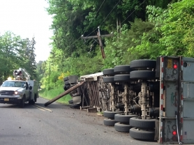 by: MULTNOMAH COUNTY, This early morning accident closed the Northwest Portland connecting road for hours.