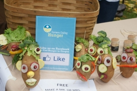 by: submitted photo, The non-profit organization Farmers Ending Hunger will be at the Lake Oswego Farmers' Market on June 2. You can make Mr. Potato Heads with real potatoes and other vegetables and learn ways to help solve food insecurity in Oregon.
