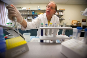 by: CHRISTOPHER ONSTOTT, Dr. David Farrell performs tests at local biotech firm Gamma Therapeutics. A My View writer suggests Bioscience is thriving in Oregon and is an economic engine for the future.