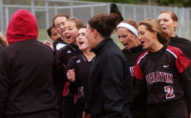 by: Dan Brood, VICTORY YELL — The Timberwolves celebrate following their state playoff win.