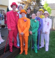 by: Barbara Sherman, PROM-BOUND SKITTLES — These Sherwood High School guys headed to the prom are as colorful as a bag of Skittles: In the front row from left are Joseph Balfour, Chris Jackson, Danny Rice and Taylor Bonawitz; in the back row from left are Dylan Flannery, Connor Munro, Chase Krieger and Mitchell Kruse.