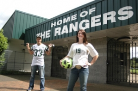 by: Jeff Spiegel, Estacada High seniors T. Jay Barber and Stephanie Searls are the 2011-12 Estacada News Athletes of the Year.
