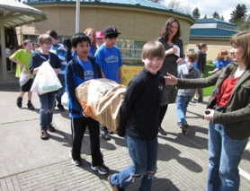 by: Barbara Sherman, HEAVY LIFTING — During Deer Creek Elementary's turn to