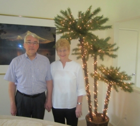 "by: Barbara Sherman, HOME SWEET HOME — Ken and Vicki Miller love their always-on ""Christmas"" tree in their Summerfield home."