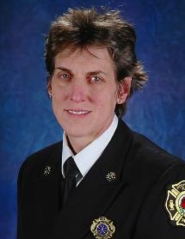 by: Courtesy of PFR, Fire Marshal Erin Janssens becomes the new city fire chief Tuesday at a ceremony on the steps of City Hall. She replaces Chief John Klum, who is retiring.