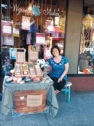 by: sUBMitted photo, Ruth Beck, known as the queen crafter and boss lady at Owl and Acorn Soaps, will display her wares outside of Wynona Studios during Saturdays in the City.