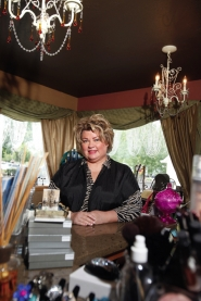 by: jonathan house, After a five-year period in which she lost her house, was forced to scale down her business and then lost a beloved son to suicide, Oregon's Grand SalonSpa owner Donna Harris-Earl finds it a little easier to smile these days.