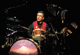 by: Chase Allgood, Drummer Dan Stueber of the Trail Band on stage at Forest Grove High School in 2007. The Trail Band will return to western Washington County this weekend.