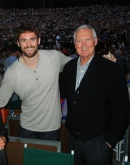 by: COURTESY OF STAN LOVE, Minnesota Timberwolves star Kevin Love (left) hangs out with basketball legend Jerry West backstage at a Beach Boys concert Sunday in Los Angeles.