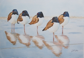 by: , Judy McIntosh Vatne composes watercolors based on photographs from nature. 