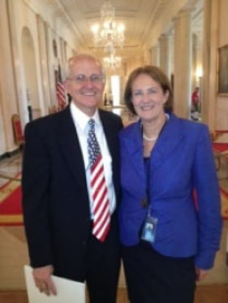 by: sUBMitted photo, Chip Sammons is pictured with Karen Mills of the U.S. Small Business Administration in the East Room of the White House.