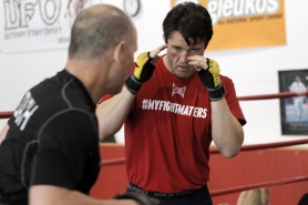 by: Jaime Valdez, GETTING READY — Chael Sonnen trains at the Team Quest facility in Tualatin on Monday as he prepares for his his UFC world title bout on July 7.