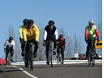 by: PHOTO: JIM CLARK/PAMPLIN MEDIA GROUP - A recent Friday morning ride took  members of the Portland Wheelmen Touring Club through North and Northeast Portland  via Marine Drive. The route ran 25 to 30 miles.