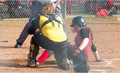 by: THE OUTLOOK: DAVID BALL - Corbetts Kailyn Hooley slides into home plate during the teams 7-6 win over Colton on Wednesday.