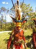 by: COURTESY PHOTOS: CHRISTINE LEGLER - The Tari Wigmen (above) make headdresses from their own hair and hold colorful dances, says Christine Legler, who will speak Wednesday on the culture and art (right) of Papua New Guinea.