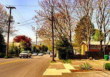 by: MERRY MACKINNON - With mapping underway for Portlands Comprehensive Plan Update, some major thoroughfares - such as S.E. Holgate Boulevard, seen here - which connect outer Portland to the Central City may be designated Civic Corridors, and may be zoned for low- and mid-rise apartment developments.
