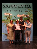 by: PHOTO BY MARK SCHWAHN - Featured actors in the OCHS play Stuart Little include Natalia Shavlovsky (Mrs. Little), Blaine Holbert (Stuart Little), Sam Babst (Mr. Little) and Dusty Nevett (George Little).