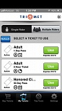 by: COURTESY TRIMET/GLOBALSHERPA - TriMets mobile app displays puchases (left) and then becomes the ticket when they are used. It is being field tested now.