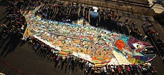 by: RORY FINNEY - Oregon activists created a giant salmon to use at rallies advocating for action on climate change.