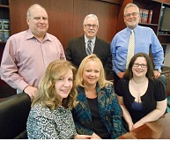 by: CLIFF NEWELL - Connecting the dots to help people find the best plans is the business of the staff at the Insurance Store in Lake Oswego. In front, from the left, are Victoria Gardner, Robin Biederman and Crystal Lauritsen. In back are Chris Gardner, Randy Radke and Daniel Weisgerber.