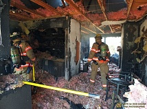 Photo Credit: PORTLAND FIRE & RESCUE - Fire heavily damaged this apartment at 12508 N.E. Glisan on Monday.