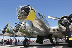 Photo Credit: SUSAN MATHENY - The new nose art for the Erickson Aircraft Collection's B-17 will be on display during the Airshow of the Cascades.