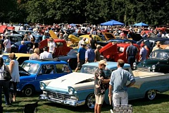 Photo Credit: SUBMITTED PHOTO: OSWEGO HERITAGE COUNCIL - It was wall-to-wall people at last weekends Oswego Heritage Council Car-Boat Show. The annual extravaganza drew over 4,000 classic car and boat fans.