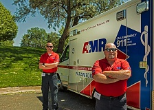 Photo Credit: PHOTO COURTESY: AMR - American Medical Response National Cinical Cup winners, Paramedic Ken Schey (foreground) with partner, Jason Mitro, emergency medical technician.