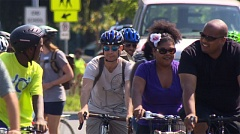 Photo Credit: KOIN 6 NEWS - Members of the cycling community, and North Portland residents, take part in the 'Take Back the Streets' bike ride Sunday, August 24.