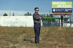 Photo Credit: TRIBUNE PHOTO: JONATHAN HOUSE - Kem Marks, a volunteer for the Division-Midway Alliance, lives nearby the vacant site at Southeast 142nd Avenue and Division Street. He wants the city to help develop the site as an economic driver for the community -- not another fast-food option.