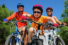 Photo Credit: DREAMSTIME - Bicycle safety is something that should be practiced by the whole family.