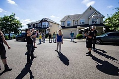 Photo Credit: SUBMITTED PHOTO - A zombie actress performs during a scene of Brad Burkes new film Zompacalypse, which has been filming throughout Tigard in the past few weeks.