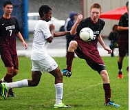 Photo Credit: DAN BROOD - BACK FOR THE BOWMEN -- Junior Logan Jones (right) should see action in the midfield and on defense for the Sherwood boys this season.