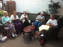 Photo Credit: SUBMITTED PHOTO  - The Needlers and Hookers knitting and crocheting group meets Thursday mornings at the West Linn Adult Community Center. They welcome new members.