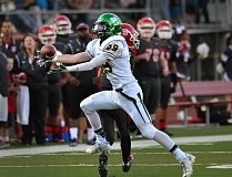 Photo Credit: VERN UYETAKE - West Linn's Rudy Hughes steps in front of a David Douglas receiver to record an interception in last week's game. Hughes would return the pick for a touchdown, his second score of the game, whcih gave the Lions a 21-0 lead.