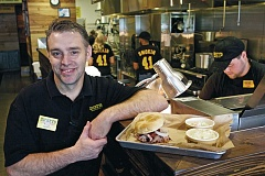 Photo Credit: TIMES PHOTO: JAIME VALDEZ - Todd Saperstein, owner of Dickey's Barbecue Pit, opened his franchise recently at Murray Scholls Town Center.