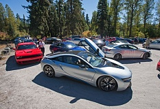 Photo Credit: TRIBUNE PHOTO JOHN M. VINCENT - The variety of cars being produce these days is amazing, including the BMW i8 in the foreground of this picture from the 2014 Run to the Sun.