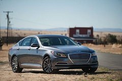 Photo Credit: JOHN M. VINCENT - The 2015 Hyundai Genesis is a value-packed entry-level luxury car that doesn't leave you wanting more. It is shown here in the historic Central Oregon town of Shaniko.