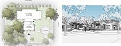 Photo Credit: RENDERING COURTESY: CITY OF OC - Architectural drawings for Oregon City's expansion and renovation of Carnegie Library show that a handicapped-accessible entrance can be built along John Adams Street.